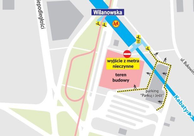 Zamykają wyjście z metra Wilanowska ZTM