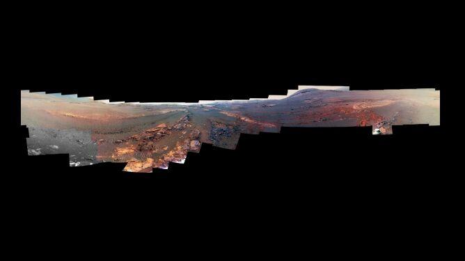 360-stopniowa panorama Doliny Wytrwałości na Marsie (NASA/JPL-Caltech/Cornell/ASU)