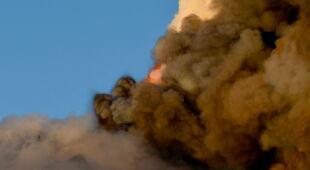 Erupcja Etny na Sycylii (PAP/EPA/ORIETTA SCARDINO)