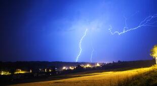 Nocna burza nad małopolską
