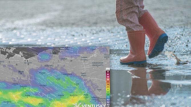 Pogoda na weekend: porywisty wiatr i wiele deszczowych miejsc