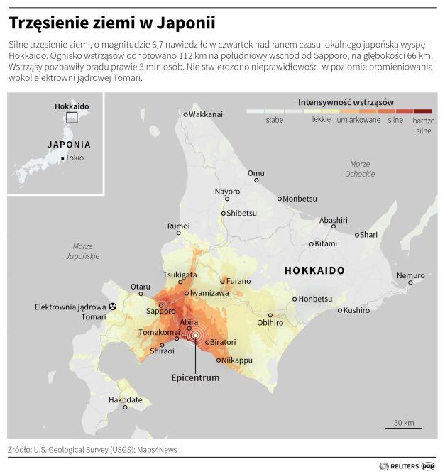 Trzęsienie ziemi w Japonii (Małgorzata Latos/PAP/Reuters)