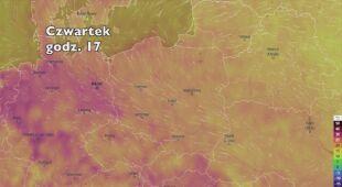 Temperatura w najbliższych dniach (ventusky.com | wideo bez dźwięku)