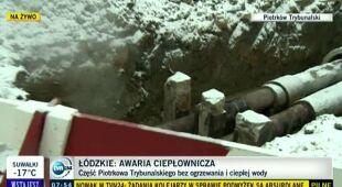 Piotr Borowski o awarii ciepłowniczej w Piotrkowie Trybunalskim (TVN24)